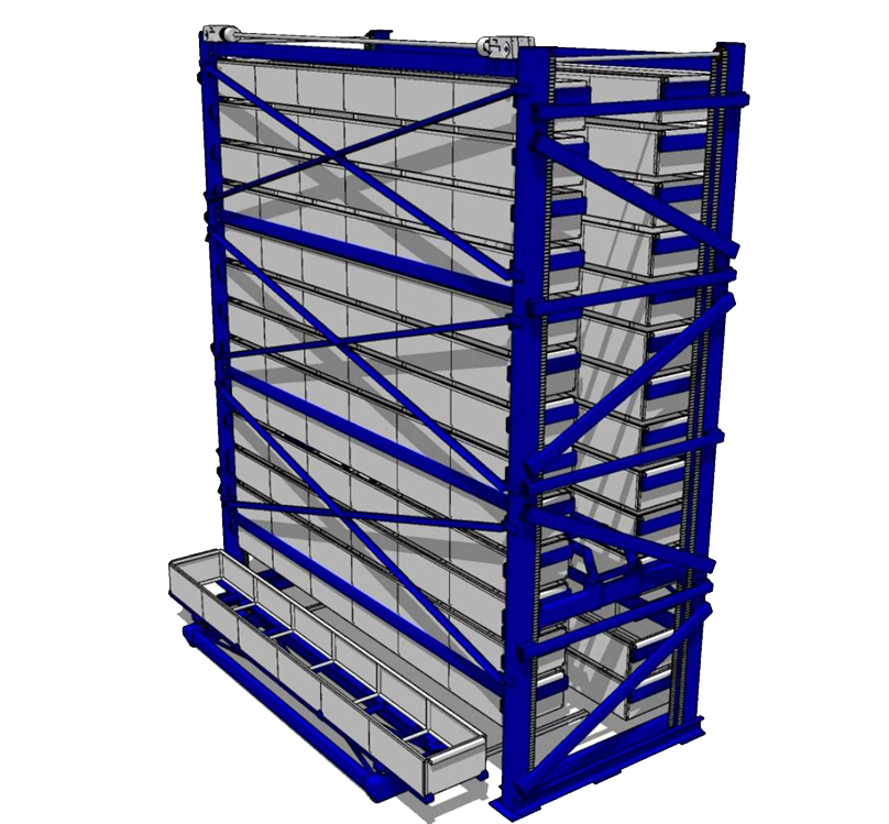 Automatic long bar tower - 3D