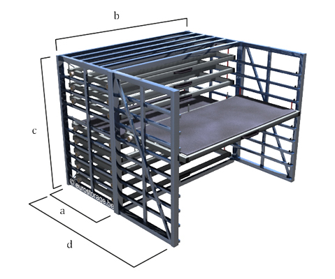 Dimensions of the horizontal metal sheet rack