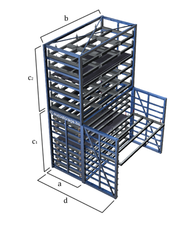 The dimensions of the metal sheet warehouse rack