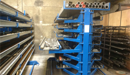 Metal sheet rack horizontal 10