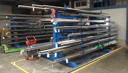 Metal sheet rack horizontal 13