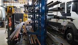 Metal sheet rack horizontal 14