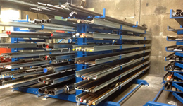 Metal sheet rack horizontal 8