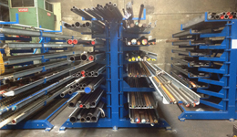 Metal sheet rack horizontal 9