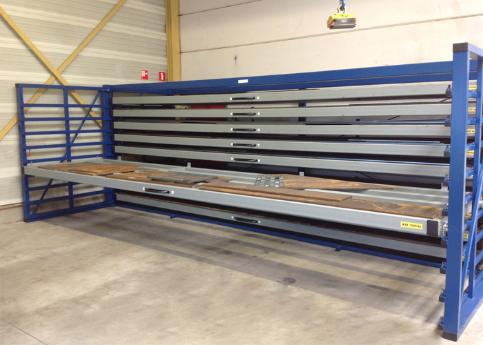 Metal sheet rack horizontal 4