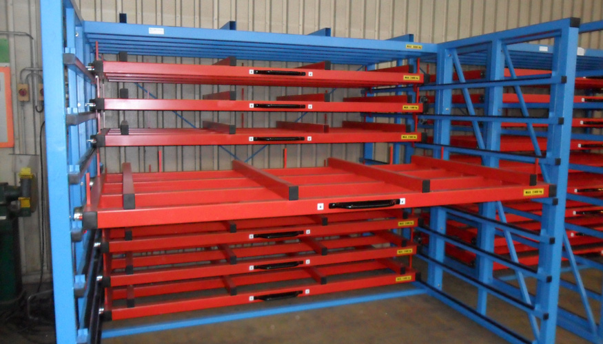 Metal sheet rack horizontal 3