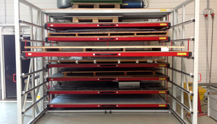 Storage rack for sheet metal