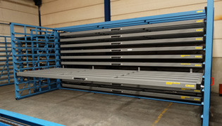 Horizontal storage of sheets 6 meters