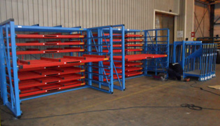 Storage systems for horizontal and vertical storage of sheets