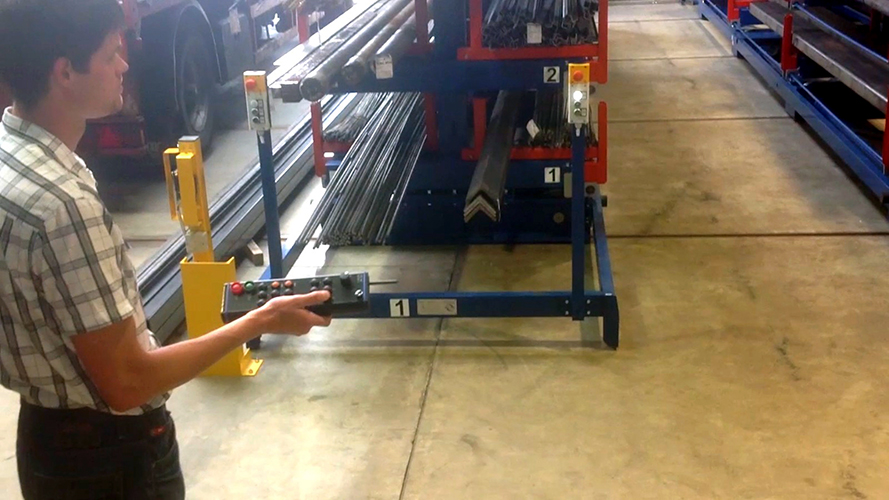 Roll out cantilever rack automated 4