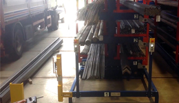 Roll out cantilever rack automated 1