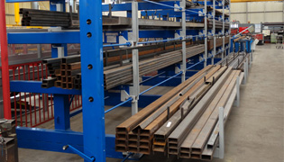 Roll out cantilever rack 6