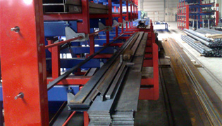 Roll out cantilever rack 8