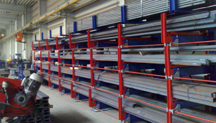 Roll out cantilever rack 9