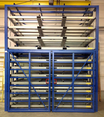 Metal sheet warehouse rack