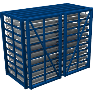 Metal sheet rack horizontal