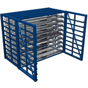 Metal sheet rack horizontal 2