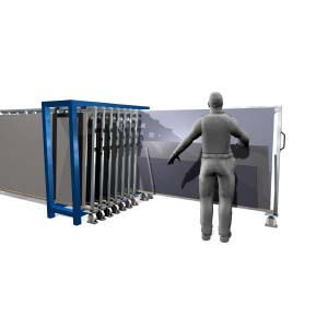 Metal sheet rack vertical